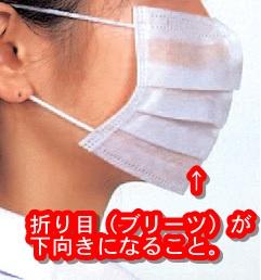 マスク_折り目