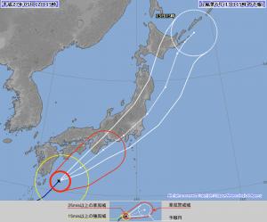 日本気象庁予報