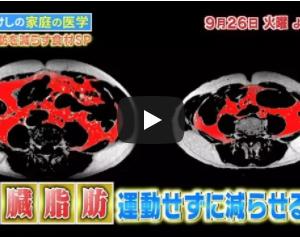 たけしの家庭の医学 内臓脂肪を減らすのは〇〇だ!!9月26日 テレビ朝日